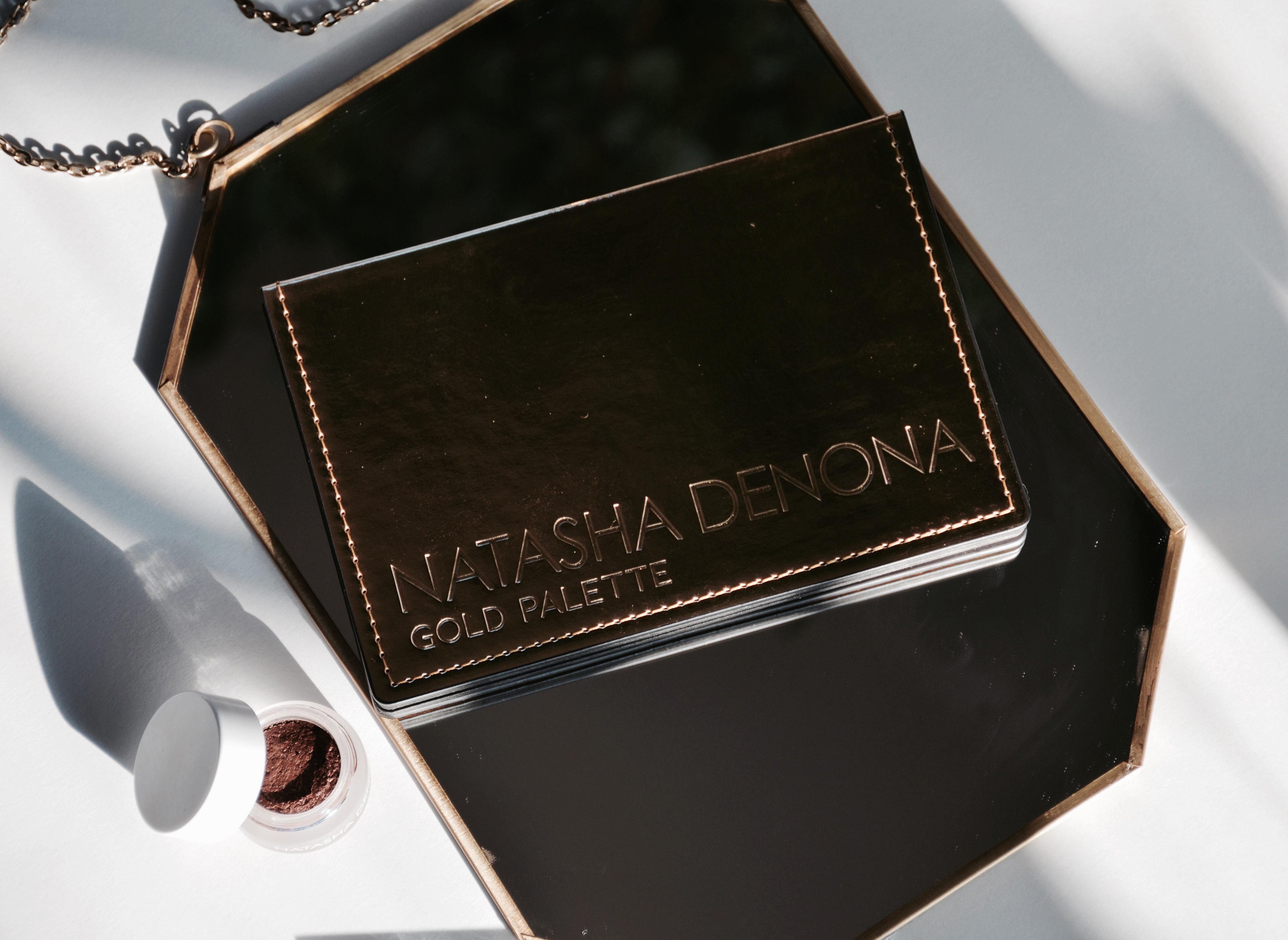 Natasha Denona Gold Palette, Mini Star Palette & Chroma Cristal Top Coat in Full Metal Bronze